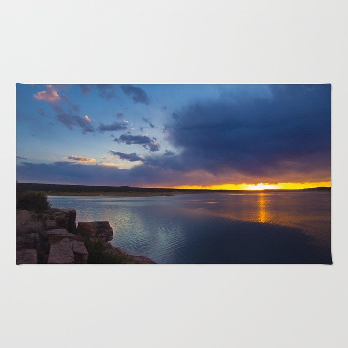 Bluewater Lake Sunset Rug