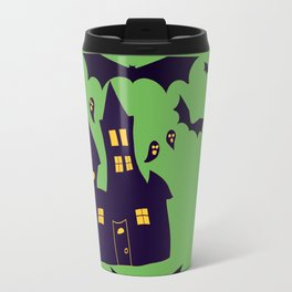 Green Haunted Houses Travel Mug