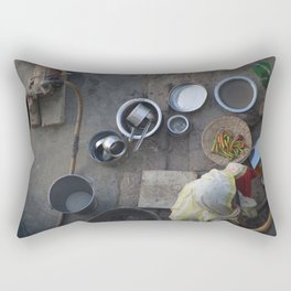 Learning to Cook from Above Rectangular Pillow
