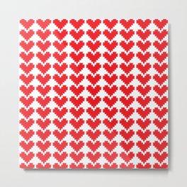 Crafty Hearts Metal Print