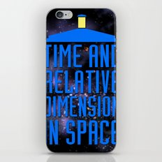 Doctor Who: The Tardis! Time and Relative Dimension in Space iPhone & iPod Skin
