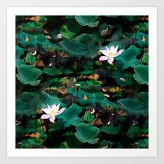 Lotus - A Pattern Art Print