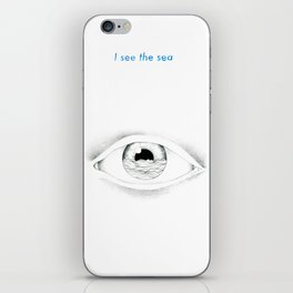 I see the sea iPhone Skin
