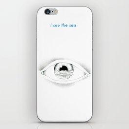 I see the sea iPhone Skin