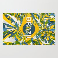 brazil Area & Throw Rugs featuring Abstract Brazil by Danny Ivan