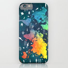 Ocean World Map color #map #worldmap iPhone Case