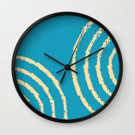 Ripples 02 - Minimal Geometric Abstract Wall Clock