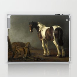 A Horse with a Saddle Beside it by Abraham van Calraet Laptop & iPad Skin