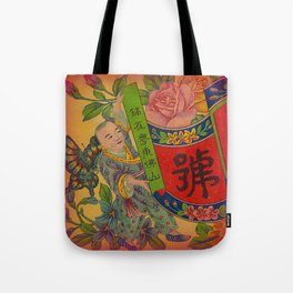 Chinese Firecracker Label Tote Bag