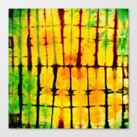 tye dye Canvas Prints featuring PILLOW TYE DYE 101 by the artist J©
