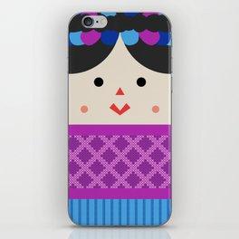 Muñeca de Trapo (Mexican Cloth Doll) Square Friends (Pink and Blue) iPhone Skin