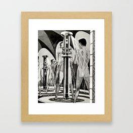 Vintage Bathhouse Framed Art Print
