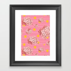 hydrangea spots and stripes Framed Art Print