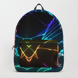 Rainbow Broken Damaged Cracked out Black handphone iPhone Backpack