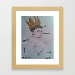 utopía de un retrato Framed Art Print