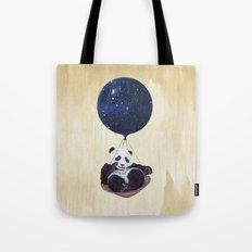 Panda in space Tote Bag