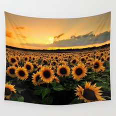 Sunflower field Wall Tapestry