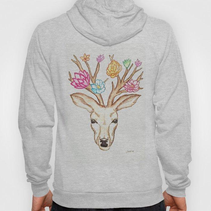 Deer with flowers Hoody