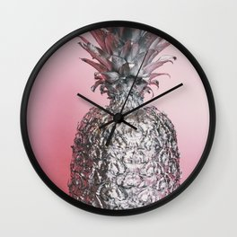 Silver pineapple Wall Clock
