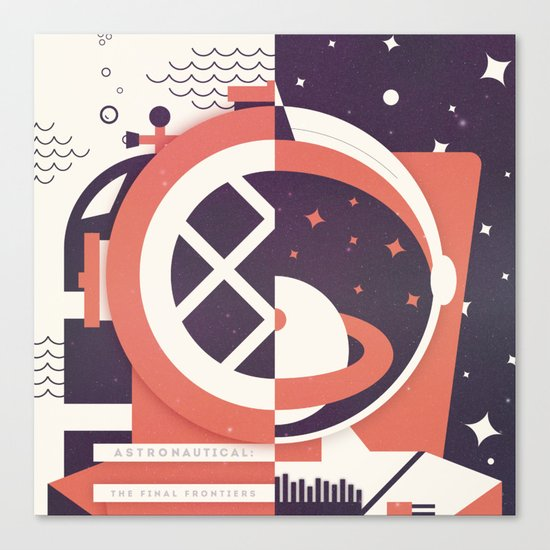 Astronautical: The Final Frontiers Canvas Print