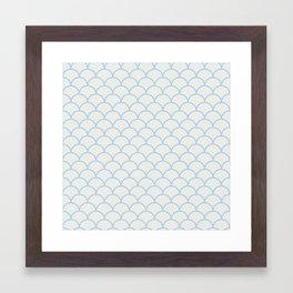 Neutral Scalopes Framed Art Print