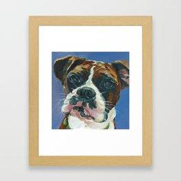 Khloe the Boxer Dog Fine Art Portrait Framed Art Print