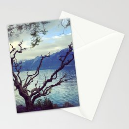 Swiss lake and Alps Stationery Cards
