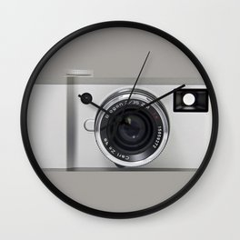 silver camera Wall Clock