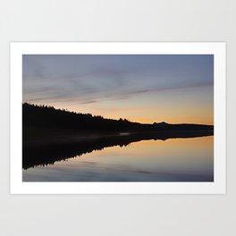 Assynt Reflections Art Print