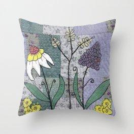 Woodland Flowers 2 Throw Pillow