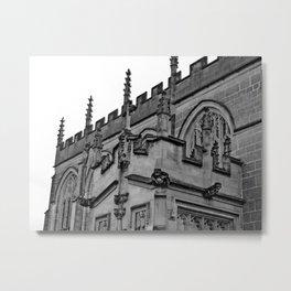 B&W Church Facade Metal Print