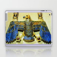 Gold Necklace with Vulture Pendant Laptop & iPad Skin