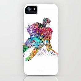 Girl Ice Hockey Sports Art Print iPhone Case
