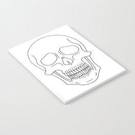 Skull (Black Outline) Notebook