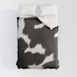 Black and White Cowhide, Cow Skin Pattern, Farmhouse Decor Comforters