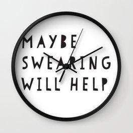 swearing Wall Clock
