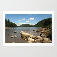 maine Art Prints featuring Maine by Raymond Earley