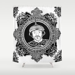 Qing dynasty inspired mandala Shower Curtain