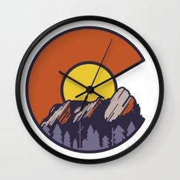 Boulder Flatirons Colorado Wall Clock