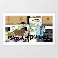 Stad and Dilbet Zombie Art Print