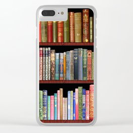 Vintage books ft Jane Austen & more Clear iPhone Case