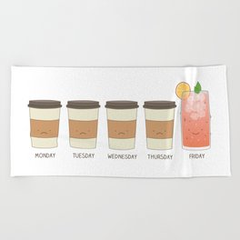 Happy friday! Beach Towel