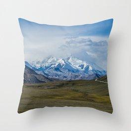 Mount McKinley Denali National Park Alaska Throw Pillow