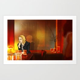 Across the Grooves: Alice, thinking Art Print