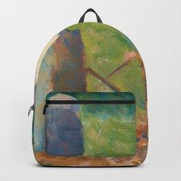 Georges Seurat - Haymakers at Montfermeil Backpack