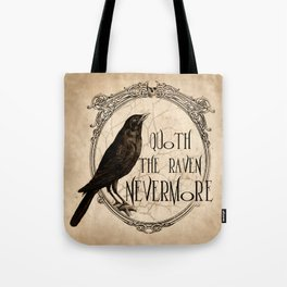 Quoth the Raven Nevermore Tote Bag