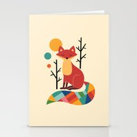rainbow Stationery Cards featuring Rainbow Fox by Andy Westface