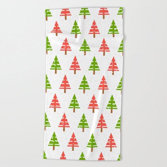 Christmas tree. Beach Towel