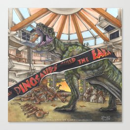 When Dinosaurs Ruled the Earth - Jurassic Park T-Rex Canvas Print