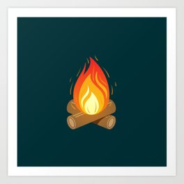 Camp Fire for Cold Nights Art Print